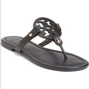 Tory Burch Black Leather Miller Sandal Size 9